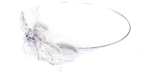 Diadème de mariée avec plumes