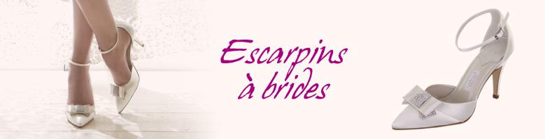 Escarpins mariage à brides