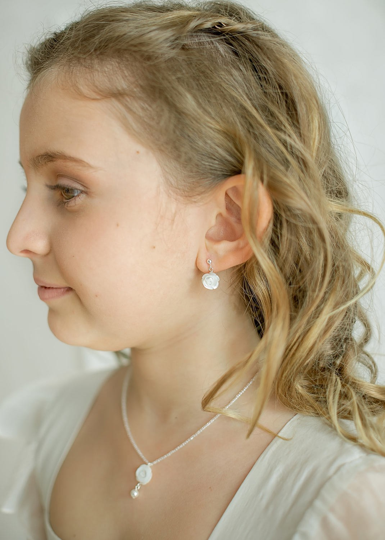 Boucles d'oreilles cérémonie enfant
