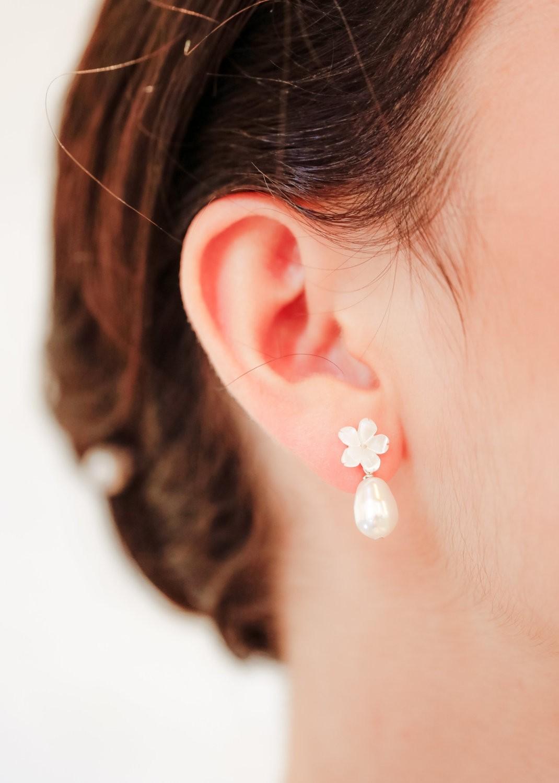 Boucles d'oreilles mariage Hana