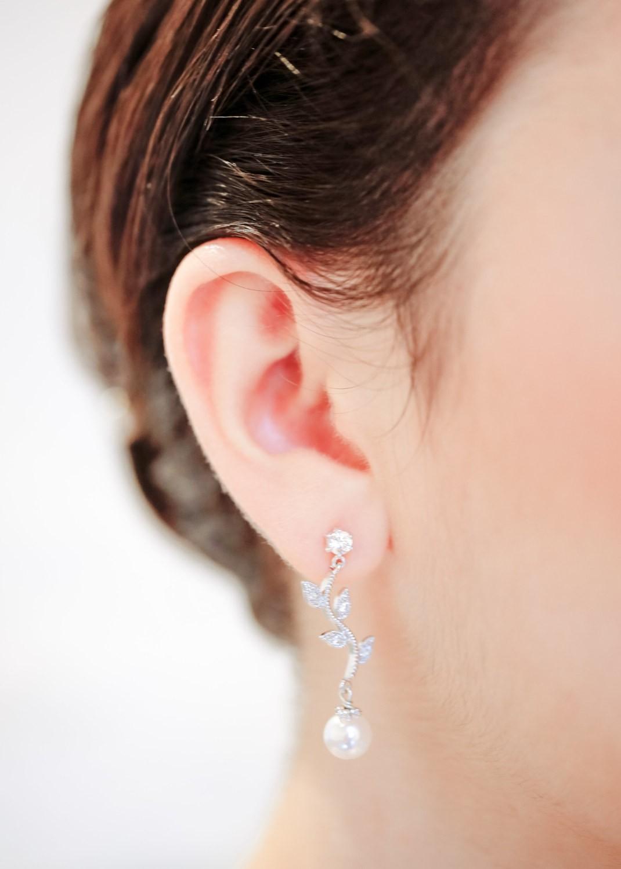 Boucles d'oreilles de mariée Jade