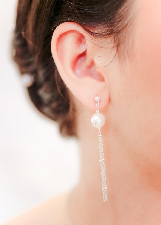 Boucles d'oreilles mariage Joséphine