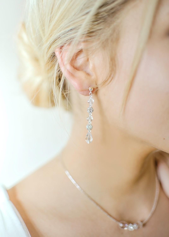 Boucles d'oreilles mariage Sparkle longues
