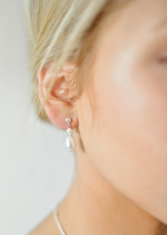 Boucles d'oreilles mariée Alice ivoire