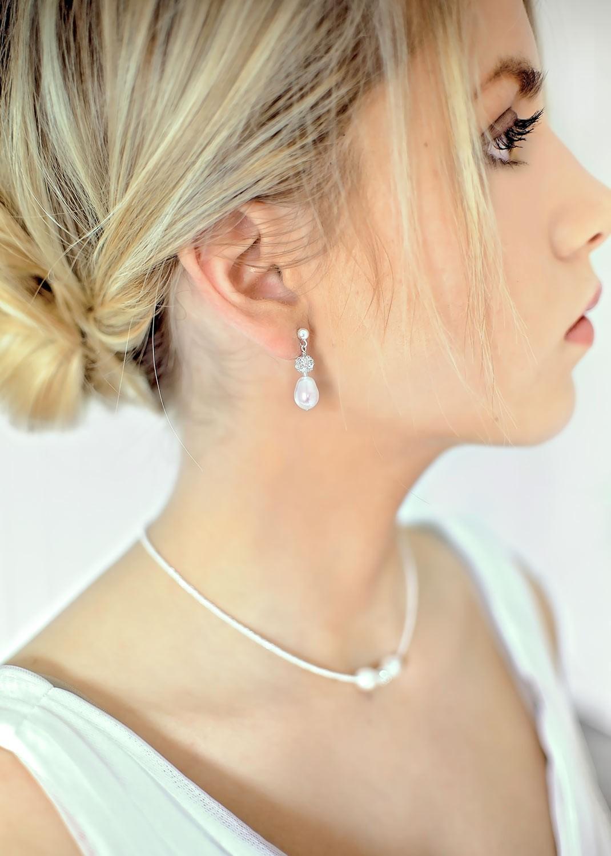 Boucles d'oreilles mariée Anna