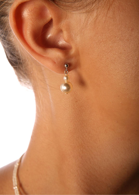Boucles d'oreilles mariage Camélia
