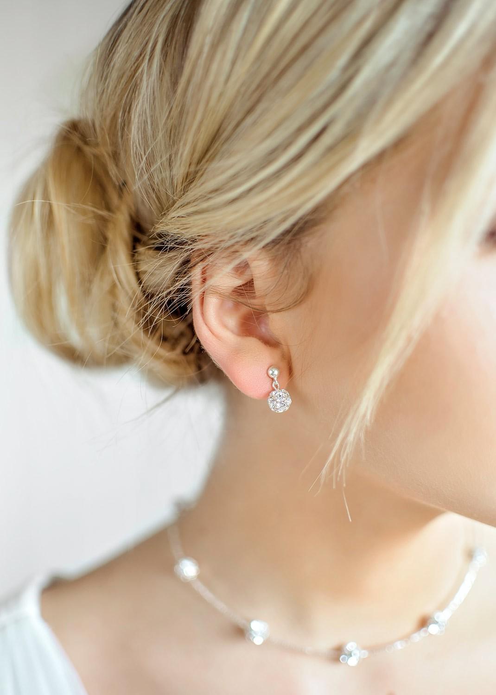 Boucles d'oreilles mariage Carolina