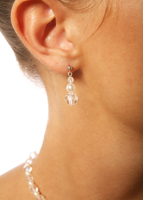 Boucles d'oreilles mariage Douceur