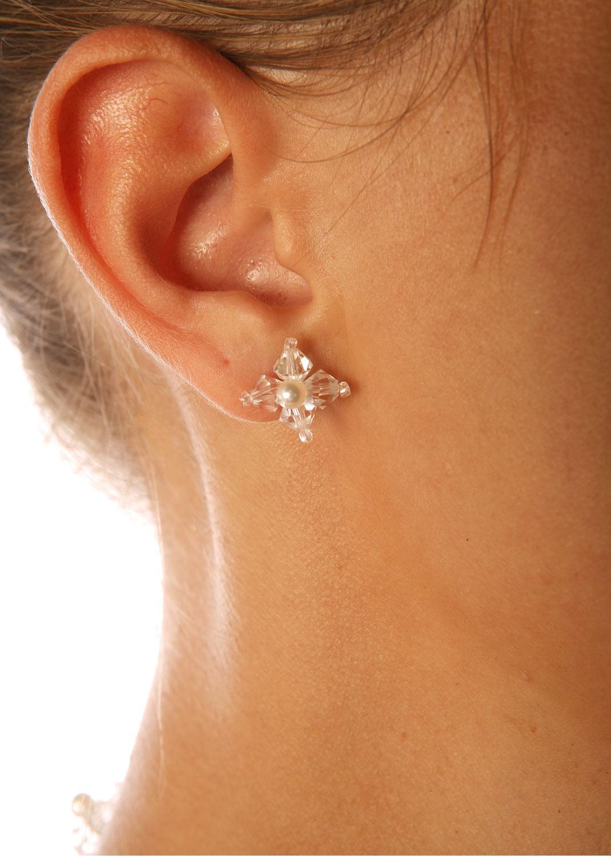 Boucles d'oreilles mariage Elégance