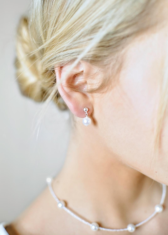 Boucles d'oreilles mariée Elena