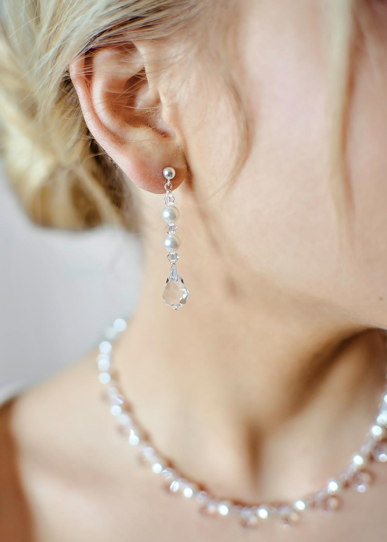 Boucles d'oreilles mariage Glamour Perles