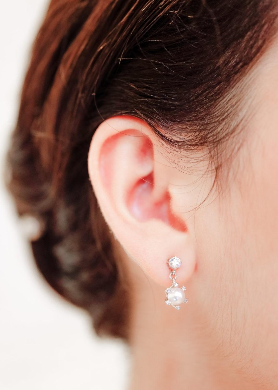 Boucles d'oreilles mariage Iris