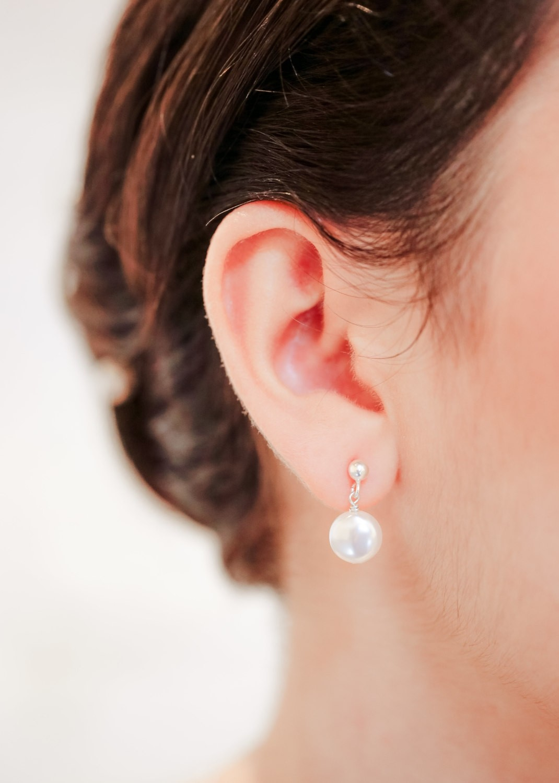 Boucles d'oreilles mariée Lana