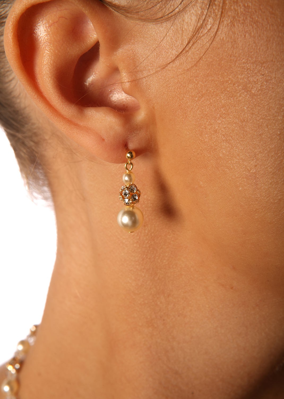 Boucles d'oreilles mariage Margaux