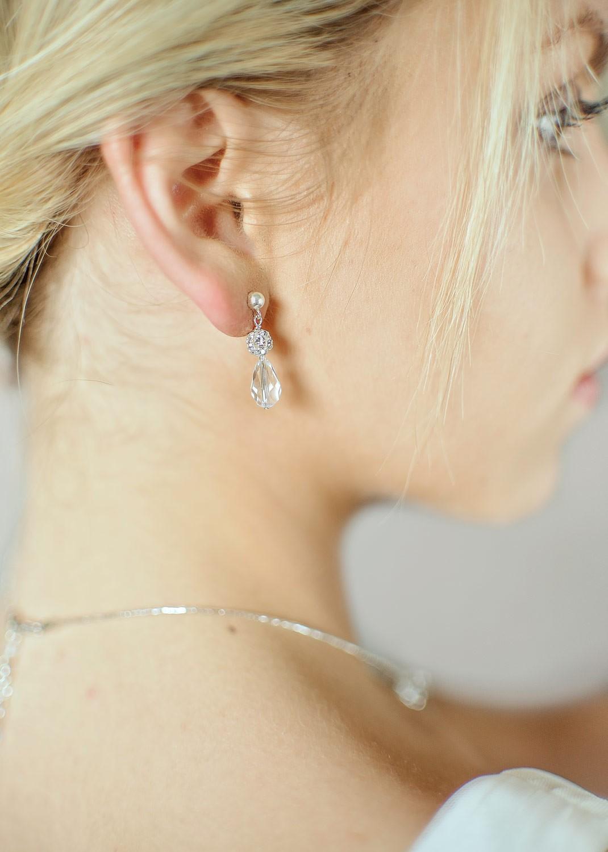 Boucles d'oreilles mariée Sparkle