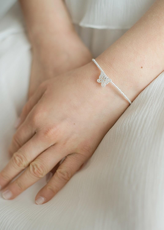 Bracelet cérémonie enfant Papillon