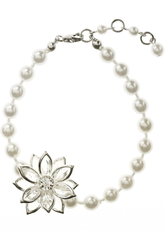 bracelet mariage fleur de lotus collier de perles. Black Bedroom Furniture Sets. Home Design Ideas