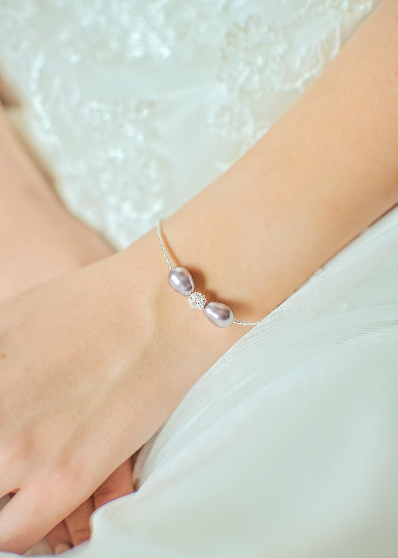 Bracelet de mariée Anna lilas