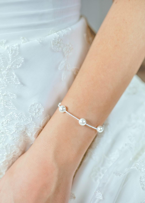 Bracelet de mariée Elena ivoire