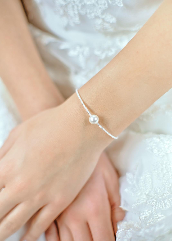 Bracelet de mariée Léa ivoire