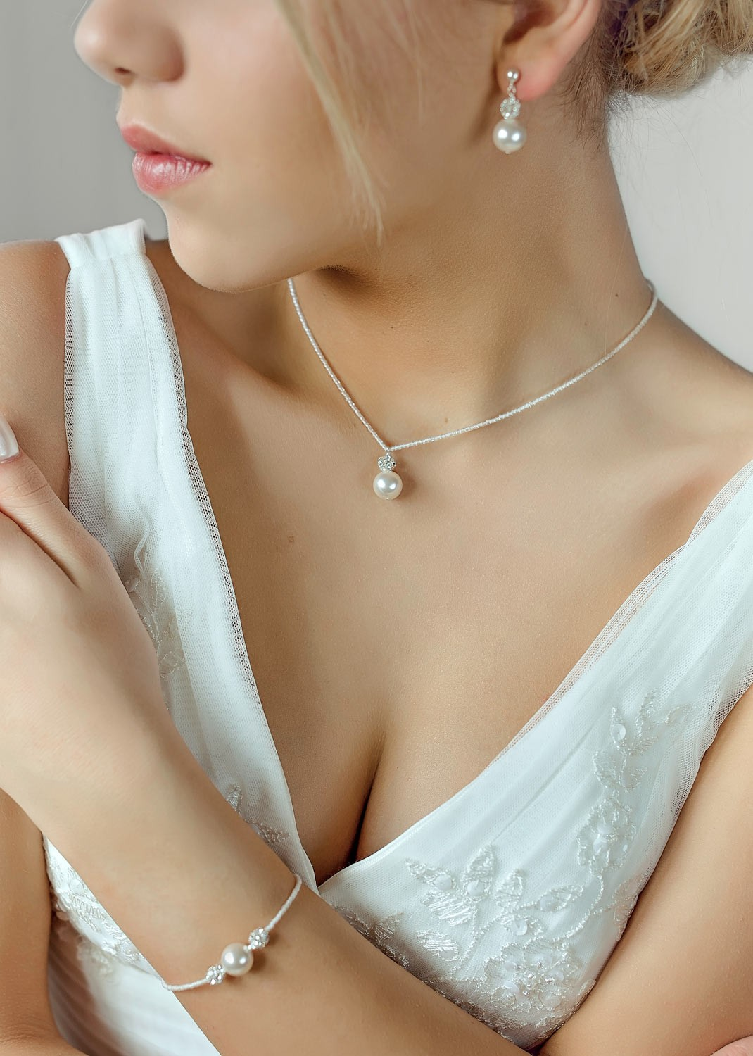 Collier mariage Bliss ivoire clair