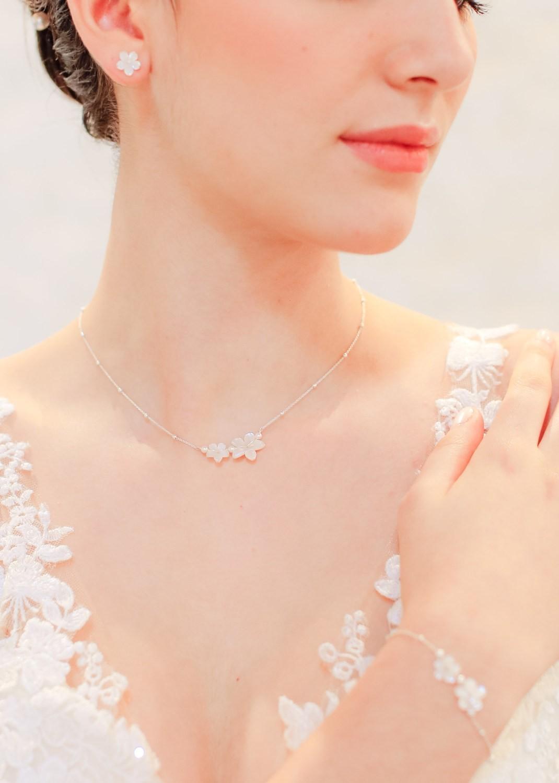 Collier de mariée bohème Gardania