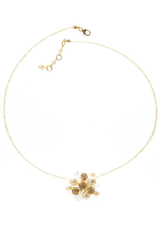 collier mariage iris creme et or avec perles nacr es perles en cristal swarovski elements et. Black Bedroom Furniture Sets. Home Design Ideas