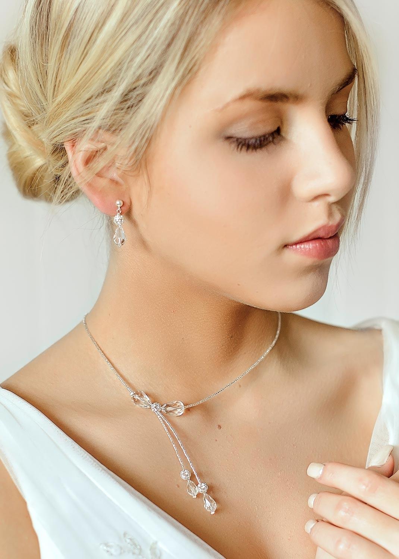 collier de mari e sparkle en cristal et perles de rcoaille argent es bijou fait main princesse. Black Bedroom Furniture Sets. Home Design Ideas