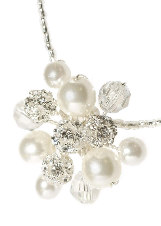 collier mariage iris blanc argent avec perles nacr es perles en cristal swarovski elements et. Black Bedroom Furniture Sets. Home Design Ideas