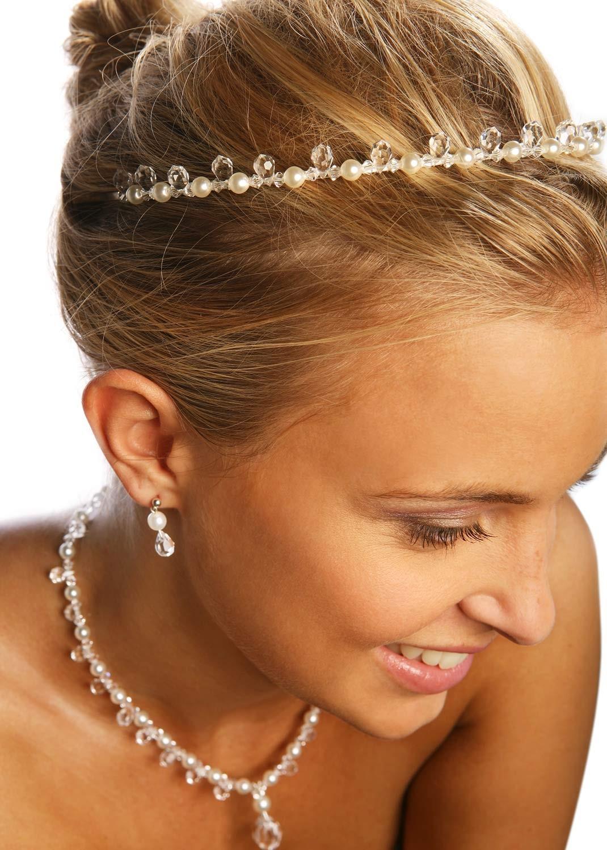 Diadème mariage Gouttes Perles