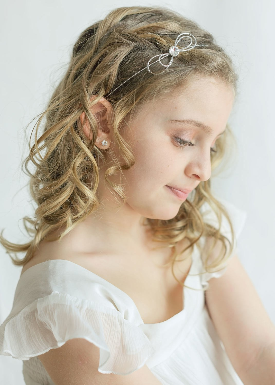 Headband cérémonie enfant Alice argent
