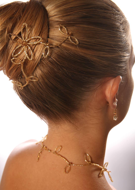 Pics à cheveux mariage Eve miel