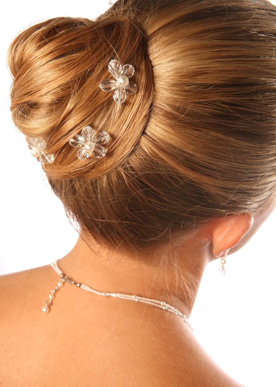Pics cheveux mariée Fleur d'été (Lot de 3)