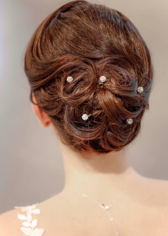 Pics cheveux mariage Gouttes