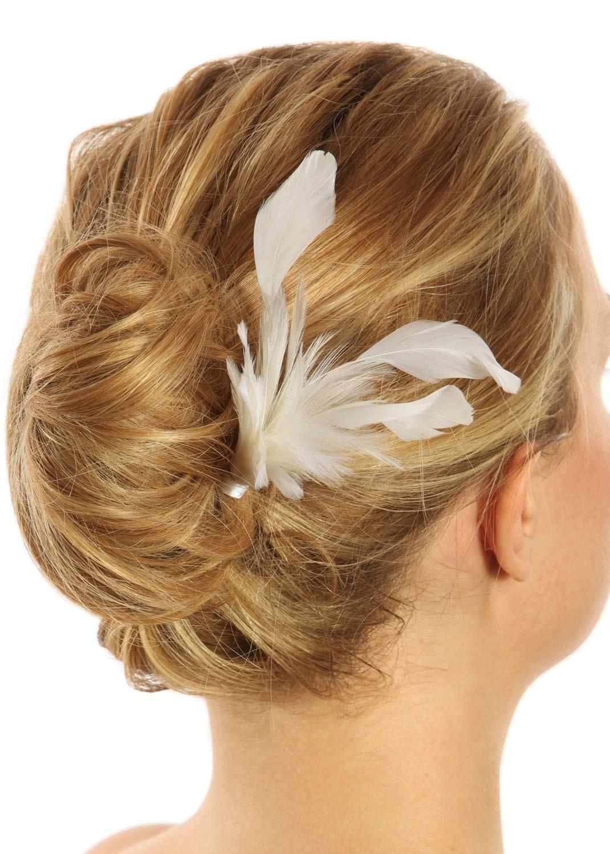 mariage Pics à cheveux en couleurs Peignes mariage Diadèmes Plumes ...