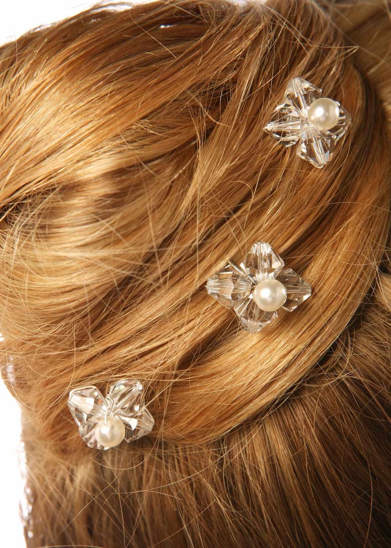 Pics cheveux mariage Gouttes Perles
