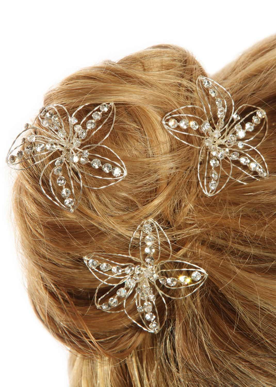 Pics cheveux mariage Hibiscus (Lot de 3)