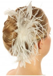 Bijoux cheveux mariage en plumes Etincelles