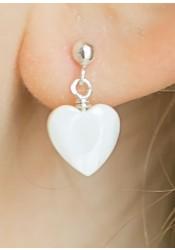 Boucles d'oreilles enfant coeur