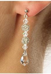 Boucles d'oreilles mariage Glamour