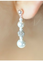Boucles d'oreilles mariage Innocence moyennes