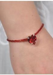 Bracelet enfant Princesse coeur - 6 coloris disponibles