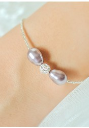 Bracelet de mariage Anna lilas