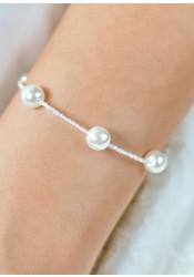 Bracelet de mariage Elena ivoire