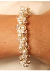 Bracelet mariage Estella crème