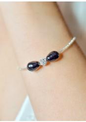 Bracelet mariage Anna noir