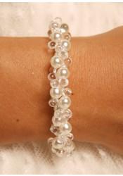 Bracelet mariage Estella ivoire clair