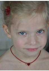 Collier enfant Princesse coeur - 6 coloris disponibles