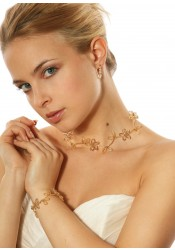 Collier mariage Lucie miel