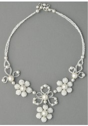Collier mariage Sophie blanc